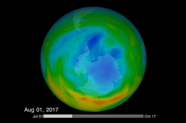 研究发现臭氧层空洞减小于化学禁令有很大的关系
