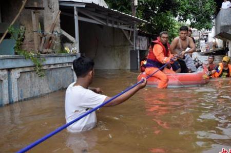 印尼雅加达发生洪水