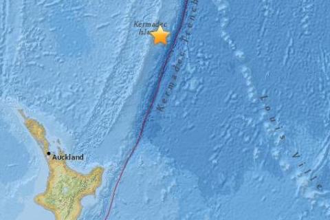 新西兰5.4级地震,震源深度为10公里