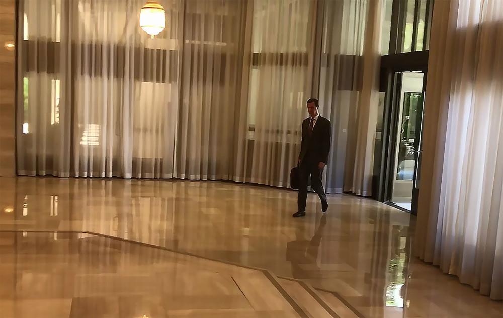叙遭空袭后总统亮相