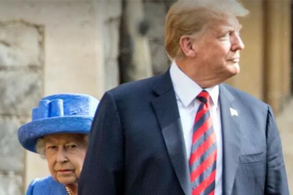 英女王单独见特朗普,缺乏礼数遭网友诟病
