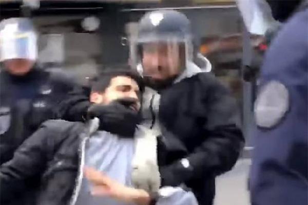 总统保镖殴示威者,法国司法部介入调