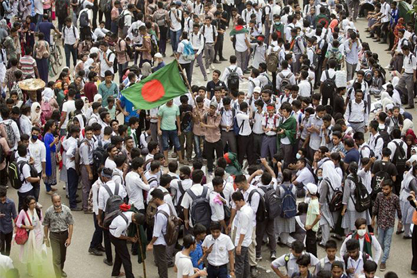 孟加拉国抗议升级,抗议年轻人的诉求看起来没那么简单