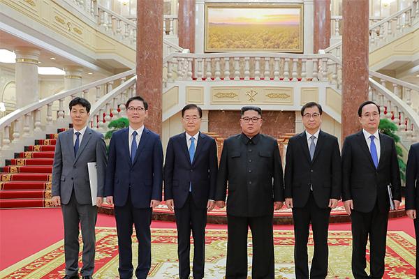 韩特使团抵平壤,转交韩国总统文在寅书信