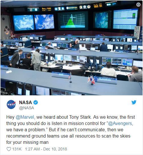 NASA回答漫威粉
