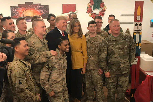 特朗普突访伊拉克