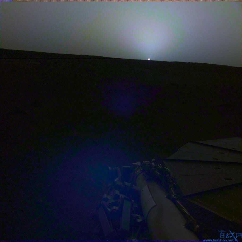 火星日出日落照
