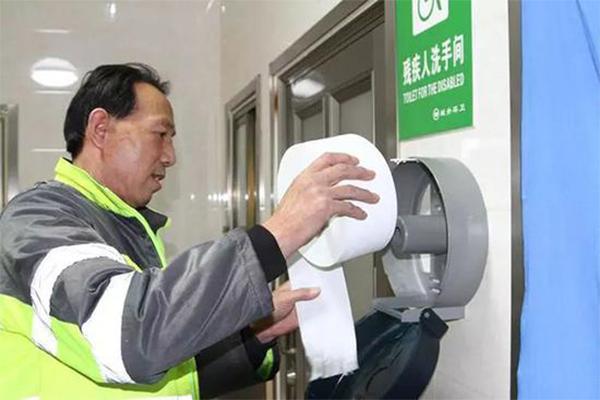 兰州公厕试点免费手纸