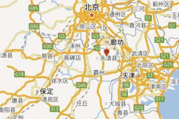 河北廊坊发生4.3级地震