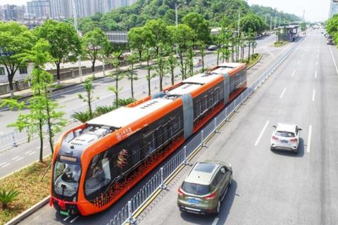 中国制造全球首列,智轨列车开始试运行