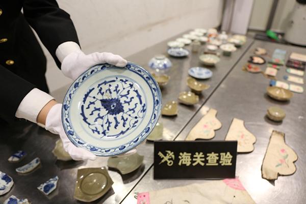 杭州海关截获文物