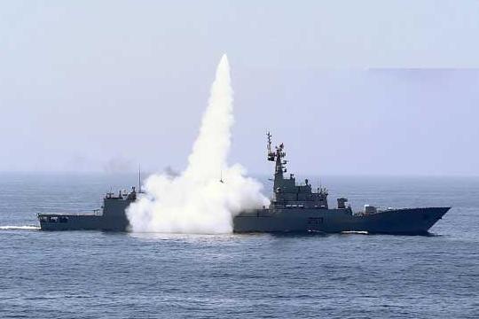 巴基斯坦举行演习,舰载导弹为中国生