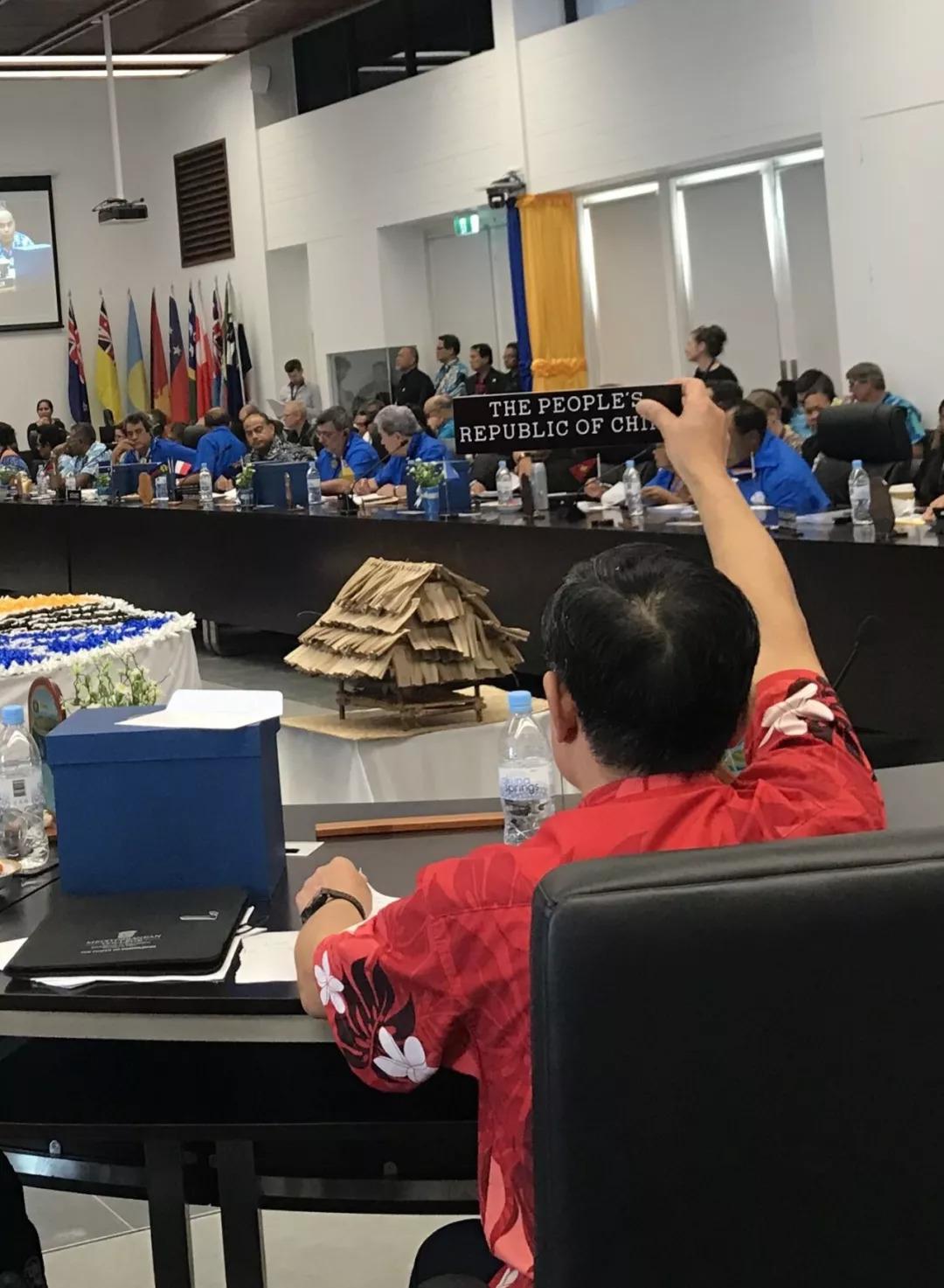 中方与瑙鲁总统交锋