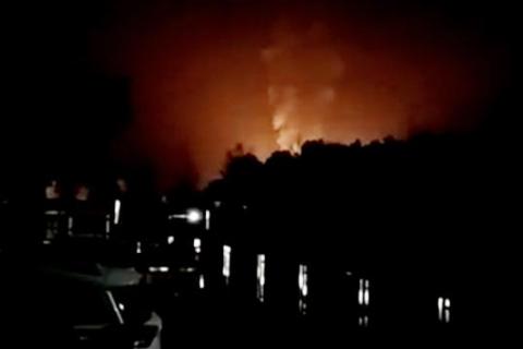 湖南洞口液化气站失火