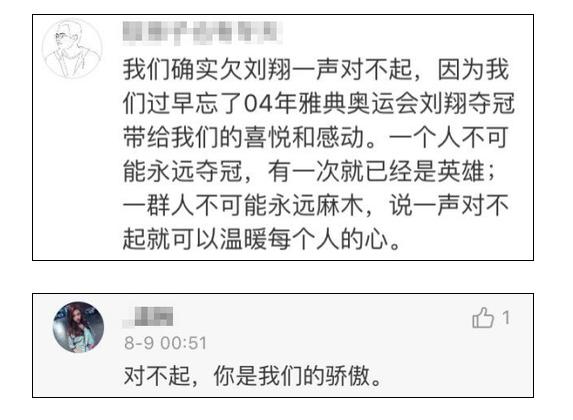 网友向刘翔道歉