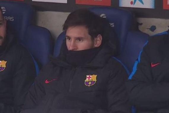 梅西再次出现在替补席