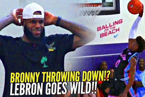"""勒布朗大赞儿子篮球比赛表现,""""我们已经得到年轻的国王"""""""