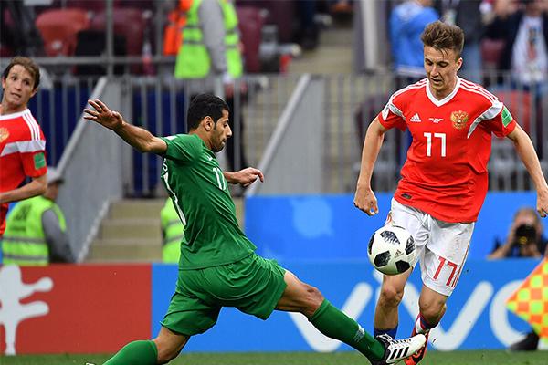 俄罗斯5-0沙特,轻松拿下开门红