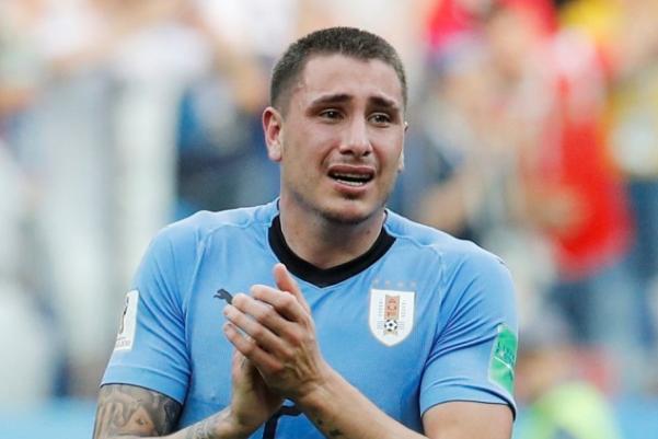 乌拉圭无缘世界四强 乌拉圭球员哭了