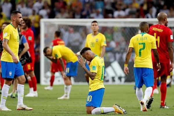 """巴西出局,内马尔回家世界杯成了""""欧洲杯"""""""