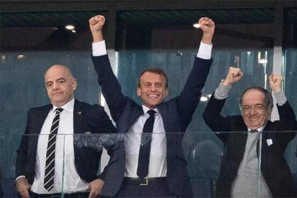 马克龙见证法国获胜
