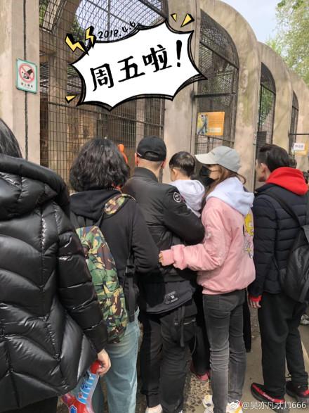 动物园偶遇黄晓明