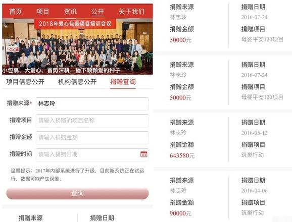 林志玲捐款记录曝光