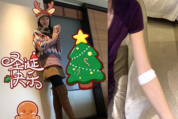 """梁洛施生病暴瘦,带着粉丝的关心很快恢复了健康,她却在圣诞夜晚化身""""疯狂""""吃货"""