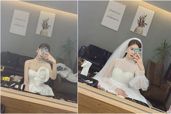 沈梦辰晒婚纱照,一个晚上换了三套服装,看起来海涛的女友只是一心为工作而已
