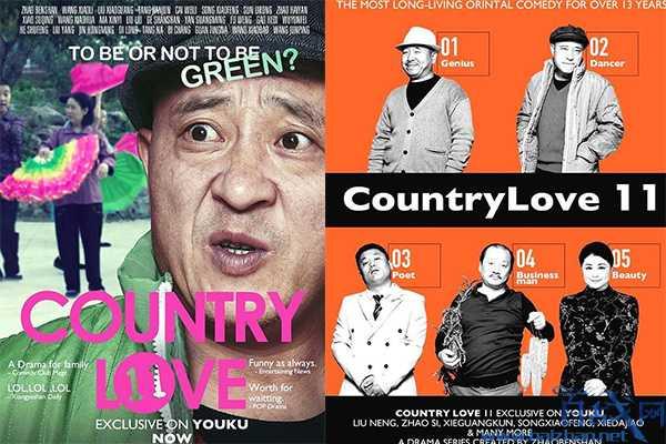 乡村爱情国际版海报,各国版本皆有特色