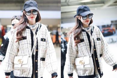 唐嫣生病赶行程,仍旧可在机场完成时尚走秀