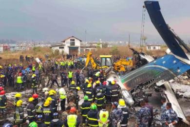 尼泊尔超龄两年客机失事,至少造成49人死亡
