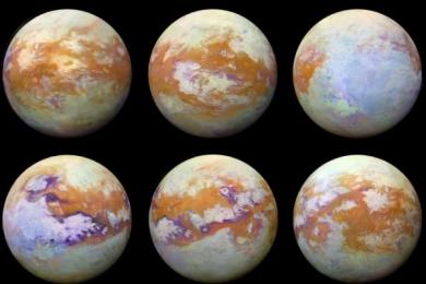 NASA首次公布卡西尼号捕获的土卫六红外图像