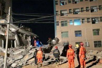 广州惠州楼房倒塌,该建筑还处在施工状态中