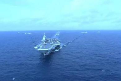 首艘国产航母最新动态,第五次海试大量内部画面公开!