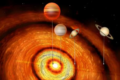 科学家最新发现一颗年轻恒星外围绕着多颗气态大行星