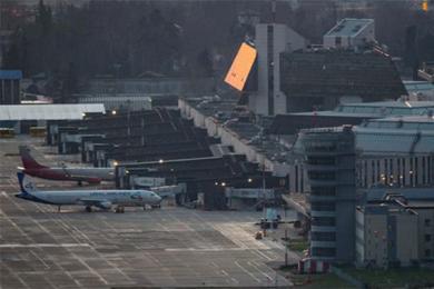 俄737降落时?#25910;希?#25152;幸最后安全成功降落