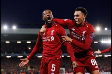 利物浦4-0巴萨,利物浦以总积分4-3成绩成功晋级欧冠决赛