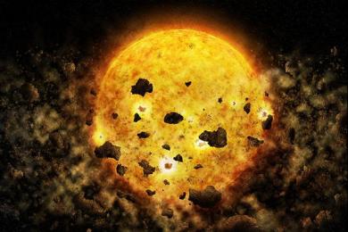 人类首次捕获恒星吞噬行星的画面