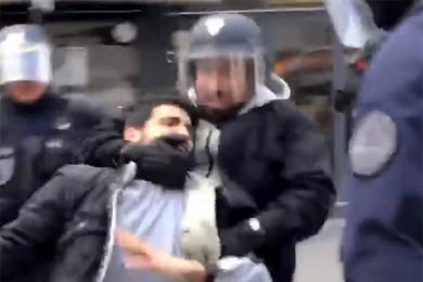 总统保镖殴示威者,法国司法部介入调查